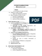 05 Mercantile Law Syllabus 2018