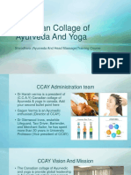 Canadian Collage of Ayurveda and Yoga