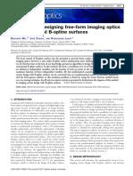 Algorithm for Designing Free-Form Imaging Opti