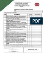 Guia y Formatos de Inspeccion, Recaudos