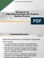 Input Data Dan Bagan Alir Program Analisis Struktur
