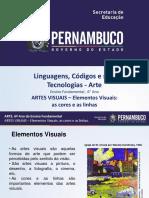 ARTES VISUAIS – Elementos Visuais as Cores e as Linhas