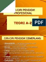 Ciri-ciri Pendidik Profesional