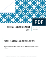 Verbal Communication Ques