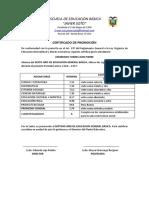 CERTIFICADOS 2016-2017