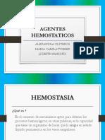 AGENTES HEMOSTATICOS
