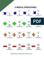 Cálculo Mental Operaciones Básicas Parte2