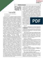 Decreto Supremo que modifica la Única Disposición Complementaria Transitoria del Decreto Supremo N° 002-2018-PCM que aprueba el Nuevo Reglamento de Inspecciones Técnicas de Seguridad en Edificaciones