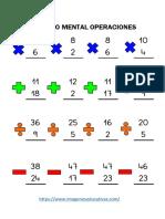 Cálculo Mental Operaciones Básicas Parte3