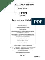 Bac l 2018 Sujet Latin