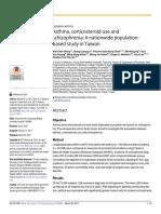 Hub Asma, Kortikosteroid Dan Skizofrenia
