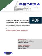 Memoria Técnica Descriptiva Huerto Solar Abaran 100Mw