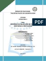 criterios operatoria