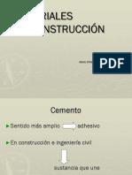 Cementos materiales y métodos de construcción