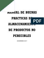 Bpa-manual de Buenas Practicas de Almacenamiento de Productos No Perecibles v.02 Dic 2017