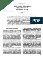 principos de toxicologia y tratamiento de la intoxicación