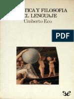Eco, Umberto (1984) - Semiótica y filosofía del lenguaje.pdf