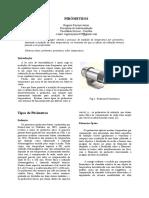 Relatório pirometro