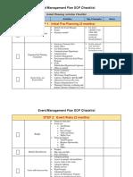 Initial Planning Activities Checklist