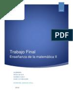 Planificación de función cuadrática