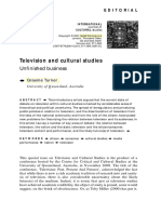 televisión and cultural studies, Turner