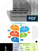 Broadly Defined and Team Based Jobs
