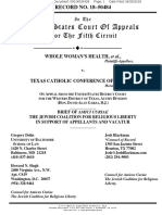 Whole Women's Health v. Texas Catholic Conference of Bishops - Amicus Brief of Jewish Coalition for Religious Liberty