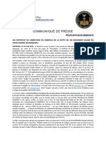 2018-06-20 FRENCH PRESS RELEASE - UN SWISSINDO DEBT BURDEN LIBERATION CERTIFICATE WINS COURT FAVOUR OVER BANKS!