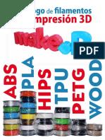 Catalogo2015 Filamentos Impresion 3d Make r Colombia