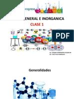 Quimica General e Inorganica - Clase 1-2 y 3 (2017 - i)