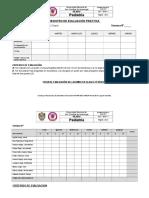 Fichas de Evaluación