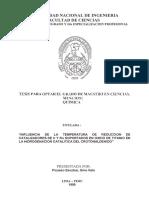 Influencia de la Temperatura de Reducción de Catalizadores de Ir y Ru soportados en oxido de titanio en la hidrogenación catalítica de crotonaldehi.pdf