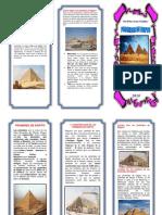 Piramdies de Egipto Triptico