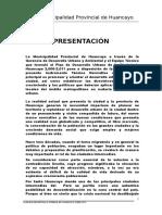 Plan de Desarrollo Urbano de La Ciudad de Huancayo