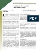 Comercializacion de La Mandarina en Trujillo