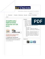 Amplificador Operacional Inversor en CA (AC) - Electrónica Unic