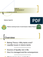 LIQUIDITY RISK AND LIQUIDITY MANAGEMENT IN ISLAMIC BANKS(Dr Salman)