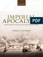 (Greater War) Joshua a. Sanborn-Imperial Apocalypse_ the Great War and the Destruction of the Russian Empire-Oxford University Press (2014)