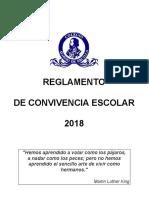 Nuevo Reglamento de Convivencia Escolar 2018