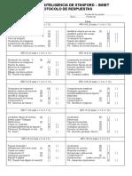Stanford Binet Protocolo