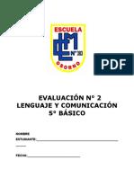 Evaluaciones Completas Lenguaje 5to Basico