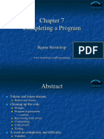 CH 7- Completing a Program