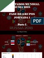 Luis Miguel Urbina - Resultados Mundial Rusia 2018, Fase de Grupos, Jornada 1, Parte I