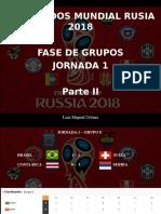 Luis Miguel Urbina - Resultados Mundial Rusia 2018, Fase de Grupos, Jornada 1, Parte II