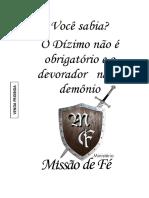 Livro Do Dízimo Oficial