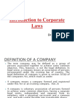 Introduction to Corporate Laws