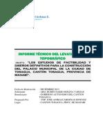 Informe Técnico Del Levatamiento Topográfico