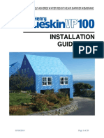 BlueskinVP100 Installation Guidelines
