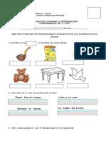 Evaluación Consonantes m , l, s, p