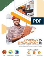 Diplomado -Especialización en Residencia, Supervisión, Liquidación y Seguridad en Obras (Teórico-Práctico)-23 de Junio